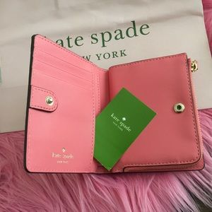 Kate Spade Pink Trifold Wallet NWT